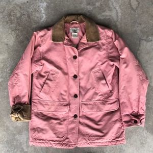 LL Bean barn jacket XS pink rose color quilted